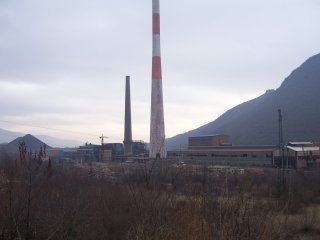 Mitrovica, site of the second largest smelter complex in Europe
